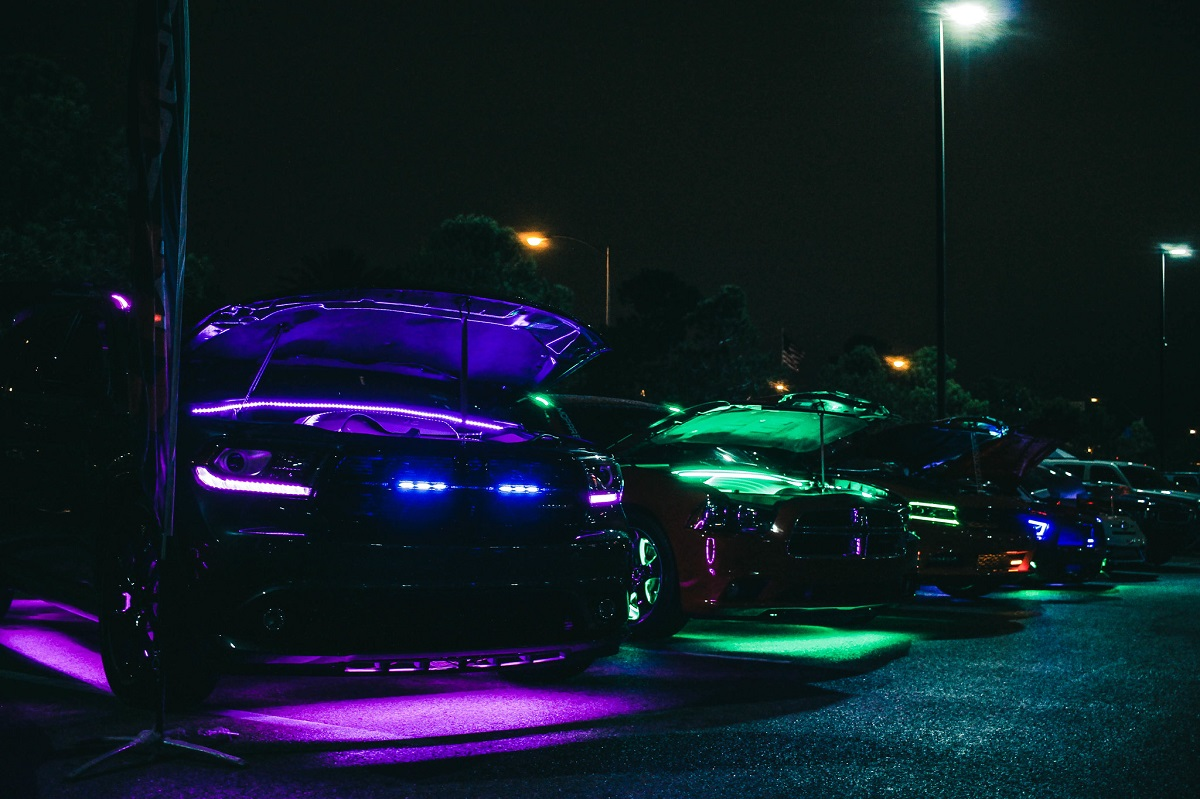 Engine And Ground Effects At Vegas Elite Tuners Car Meet